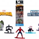 Marvel Spiderman Diecast Nano Metal Figures with Exclusive Vulture & Green Goblin