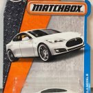 Matchbox 2017 MBX Adventure City Tesla Model S 26/125, White