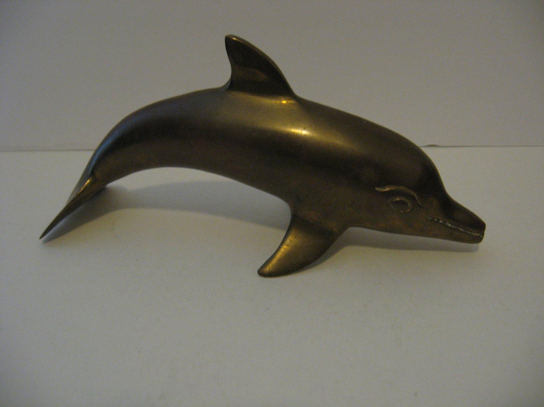 Vintage Brass 8' Dolphin