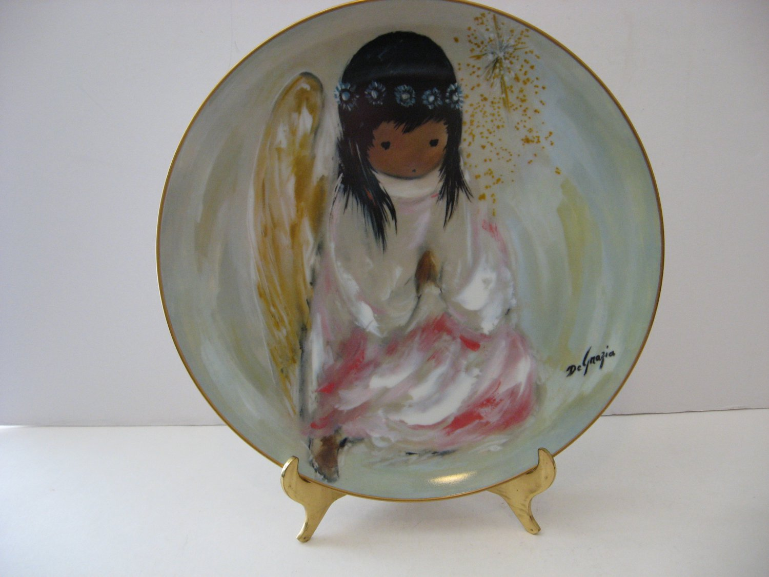 "Vintage - DeGrazia Collector Plate - ""A Little Prayer - The Christmas Angel"" Circa 1981"