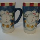 2 -  Large Coffee Mugs - Winter Buddies Design