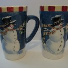 2 - Large Coffee Mugs - Winter Buddies