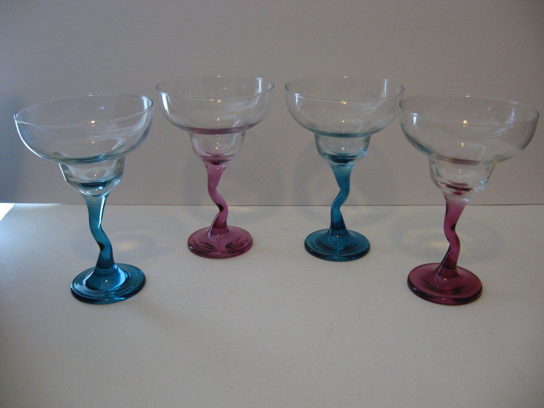Color Splash Wine Glasses - Set of 4