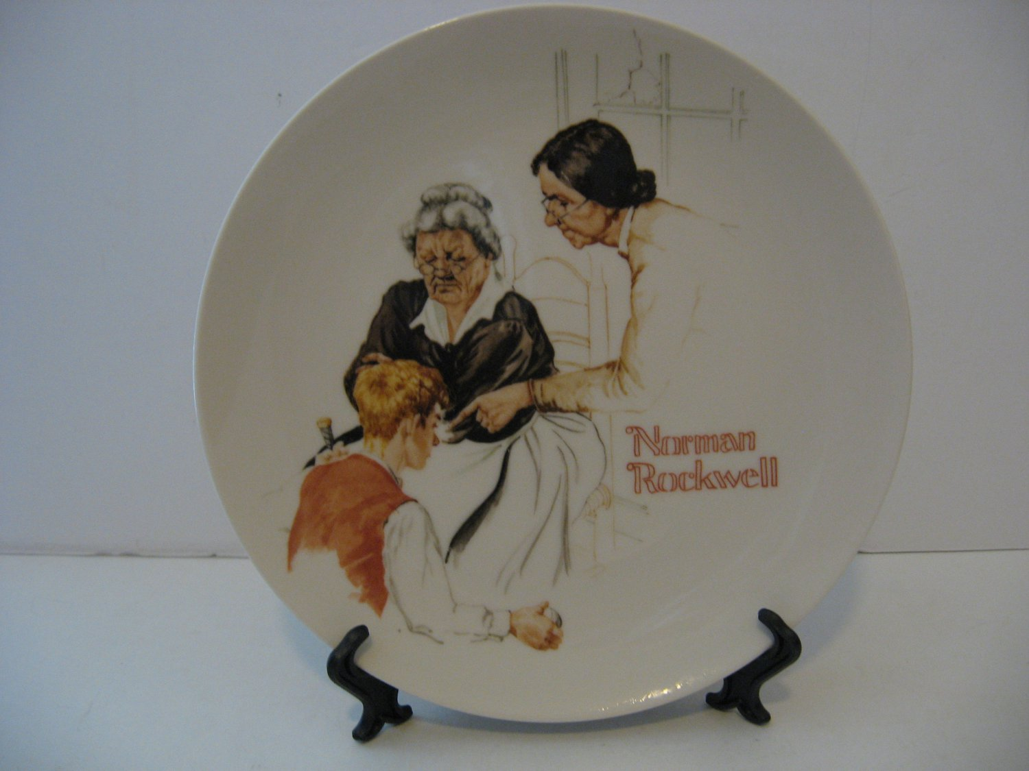 "Norman Rockwell 9.5 Collector Plate 1981 ""THE BROKEN WINDOW"""