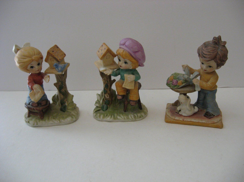 Little Garden People -Set of 3 Figurines