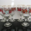Festive Holiday Village Wine Glasses - Set of 6
