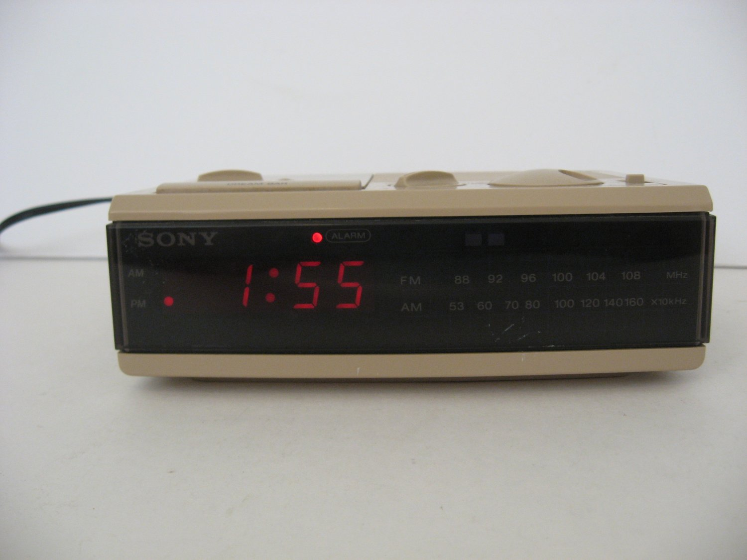 Vintage Sony Dream Machine - AM/FM Clock Radio -  ICF-C3W