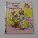 1990 Walt Disney's Minnie's Slumber Party -  Illustrated Little Golden Book