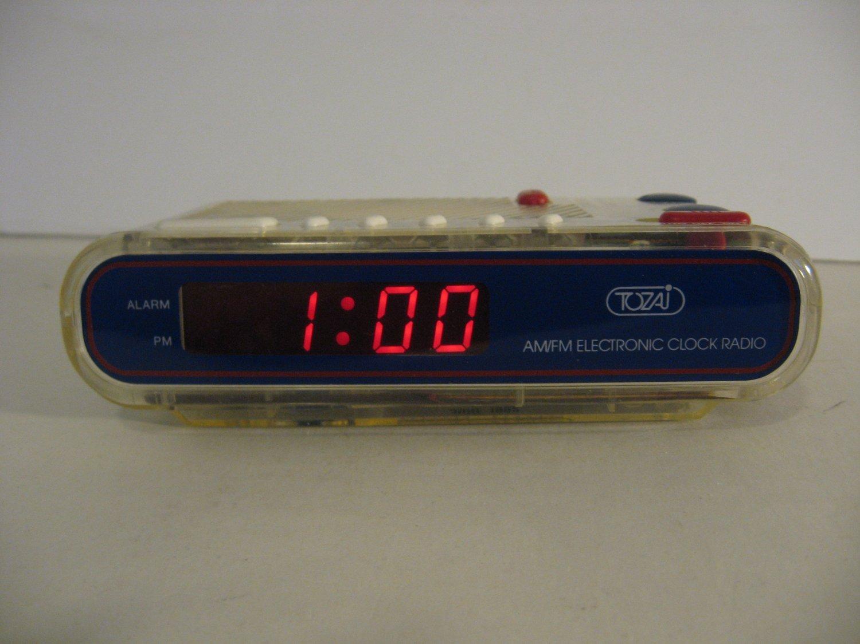 Vintage Tozai - See Through AM/FM Clock Radio