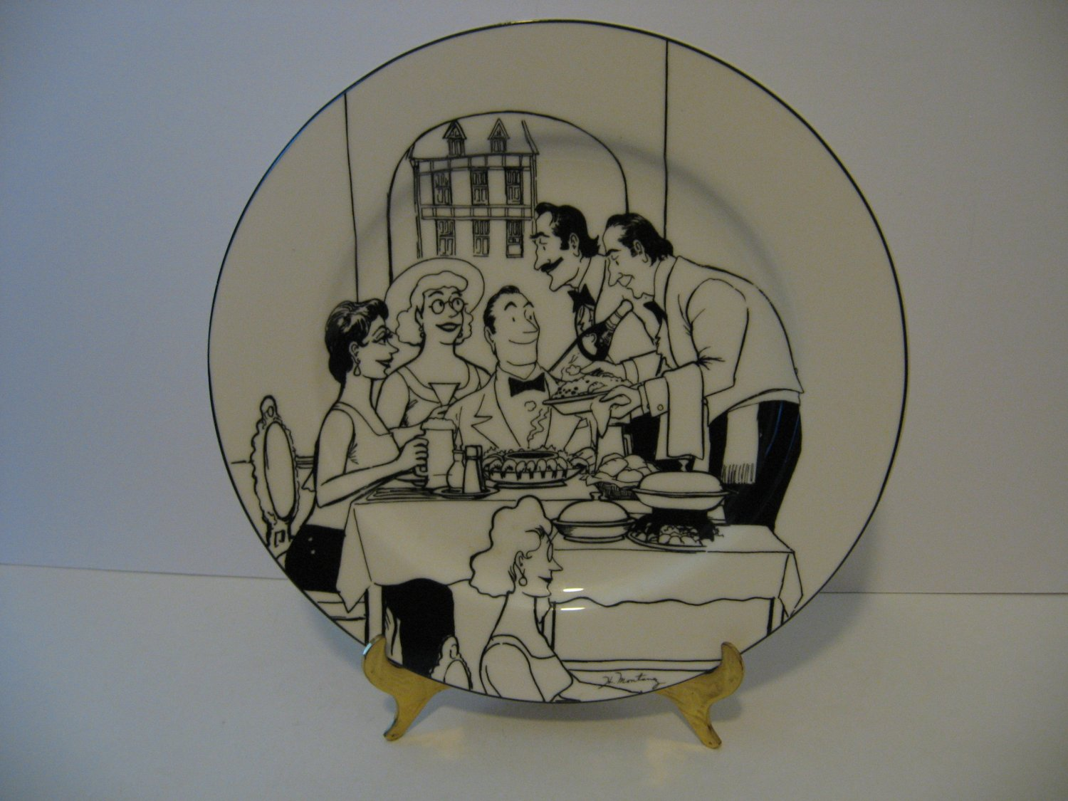 French Cafe Bistro -  Dinner Plate by Epoch