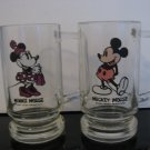 Vintage Disney Mickey Mouse  & Minnie Mouse -  Root Beer Mugs