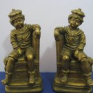 Vintage 1960's Little Boy Sitting Bookends