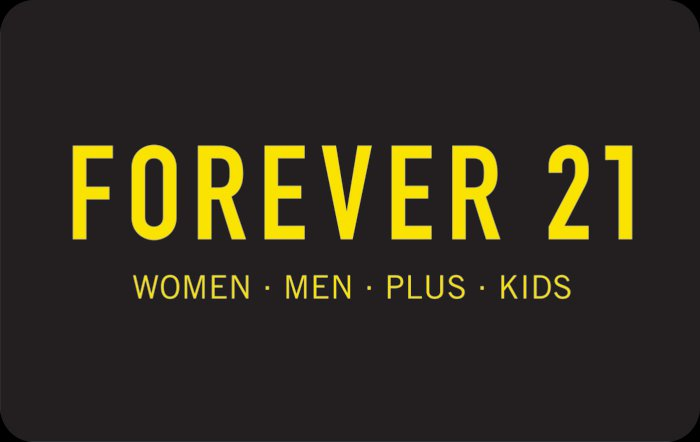 $150 Forever 21 Gift card (Email Delivery)
