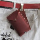 cell phone pouch with belt clip, custom handmade in the USA