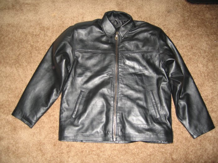 Genuine Mens Black Leather Jacket / Coat for Casual Outfitters or Riders