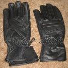 Leather Gloves Men Bike Motorcycle Drive Black Lrg. NEW