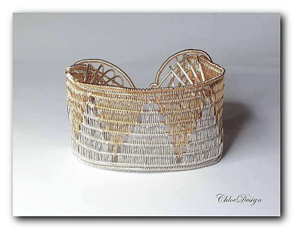 diy pdf Tutorial Wire Weaving Jewelry Yin Yang Bangle