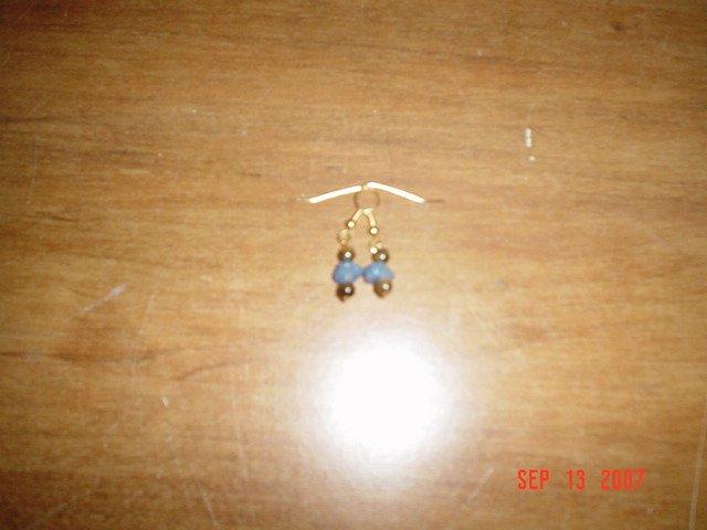 Tiger Eye and Blue Aventurine Earrings