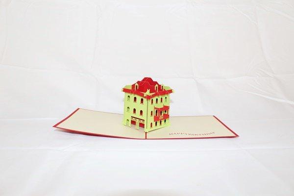 3D Pop Up Handmade Square House Card US Seller Love Pop Card