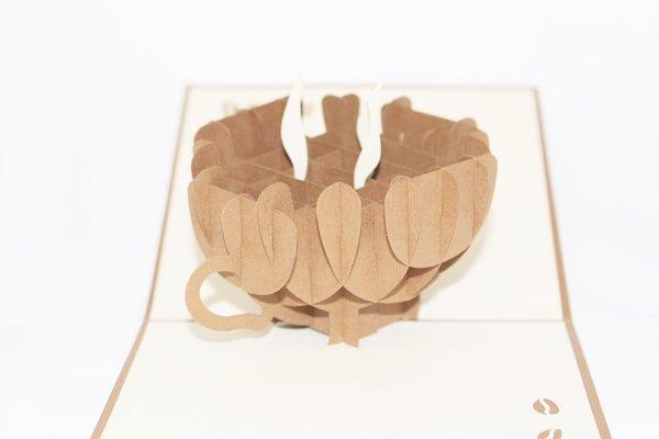 3D PopUp Handmade Cup Of Coffee Card US Seller Love Pop Card