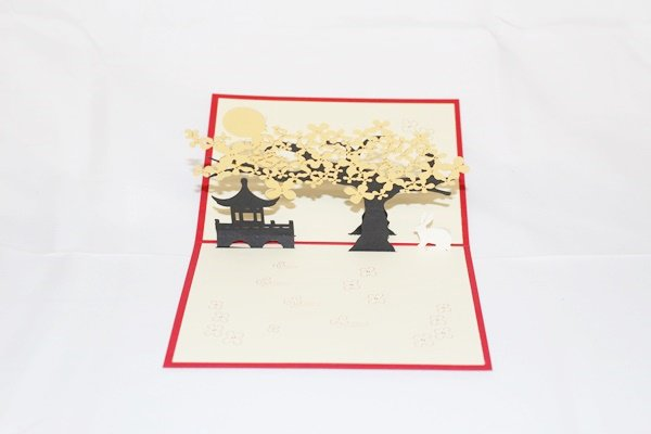 3D Pop Up Handmade Golden Trees Card US Seller Love Pop Card
