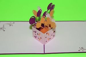 3D Pop Up Handmade Handcrafted Birthday Balloons Greeting Card US Seller Lovepop