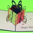 3D Pop Up Handmade Gift Box Blue Greeting Card US Seller Love Pop Card