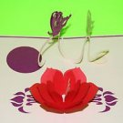 3D Pop Up Flower with Butterflies Greeting Card US Seller Love Pop Card