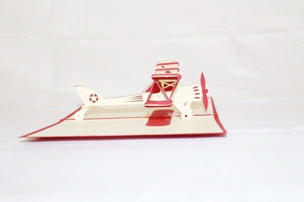 3D Pop Up Handmade Birthday Airplane Card US Seller Love Pop Card