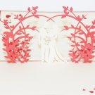 3D PopUp Handmade Wedding Couple  Card US Seller Love Pop Card