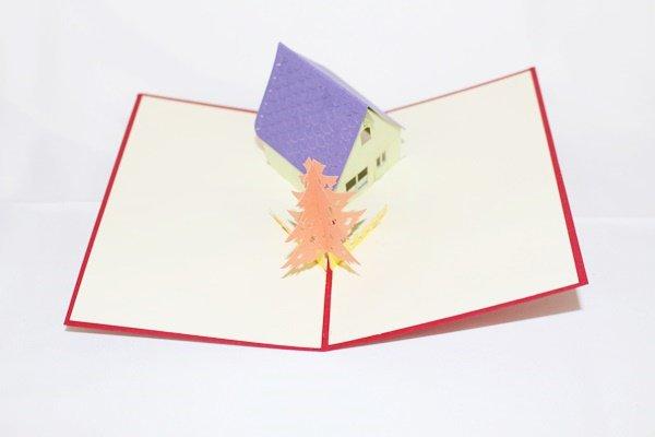 3D PopUp Handmade Little House Card US Seller Love Pop Card