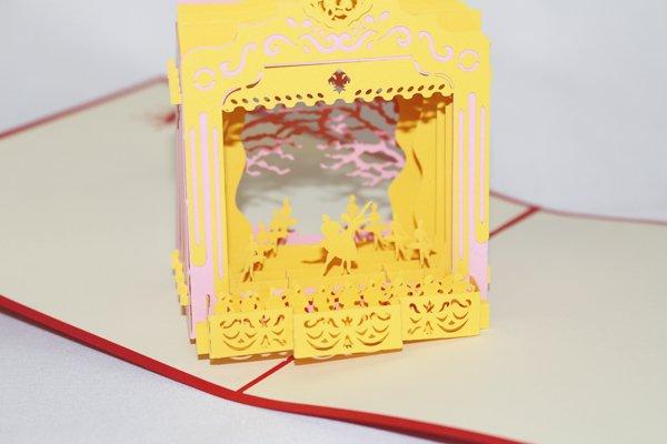 3D PopUp Handmade Ballerina Stage Dancer Card US Seller Love Pop Card