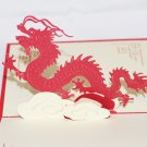 3D PopUp Handmade Chinese Dragon Card US Seller Love Pop Card
