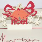 3D PopUp Handmade Merry Christmas Bells Card US Seller Love Pop Card
