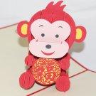 3D PopUp Handmade Monkey Card US Seller Love Pop Card