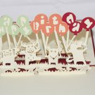 3D PopUp Handmade Happy Birthday Mouses Card US Seller Love Pop Card