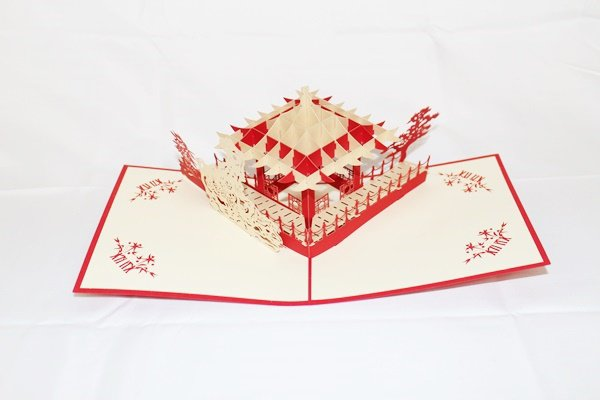 3D PopUp Handmade Chinese Garden Card US Seller Love Pop Card