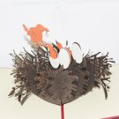 3D PopUp Handmade Mother Bird with Babies Card US Seller Love Pop Card