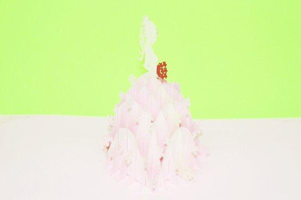 3D PopUp Handmade Beautiful Bride Card US Seller Love Pop Card
