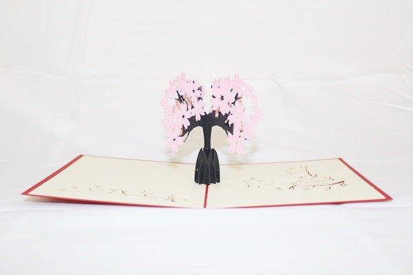 3D Pop Up Handmade Pink Tree Card US Seller Love Pop Card