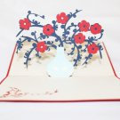 3D Pop Up Handmade Love Pot of Flowers Greeting Card US Seller Love Pop Card