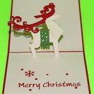 3D Pop Up Handmade Reindeer Greeting Card US Seller Love Pop Card