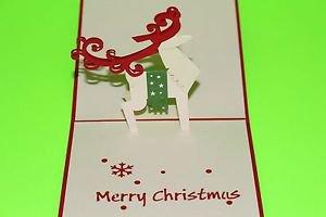 3D Pop Up Handmade Reindeer Greeting Card US Seller Love Pop Card