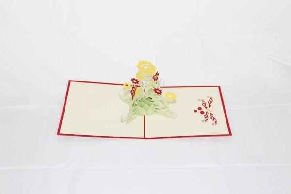 3D PopUp Handmade Flower Card US Seller Love Pop Card