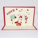 3D Pop Up Handmade Love Couple 2 Card US Seller Love Pop Card