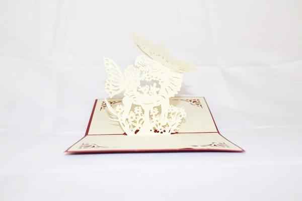3D Pop Up Handmade Love Fairies Card US Seller Love Pop Card