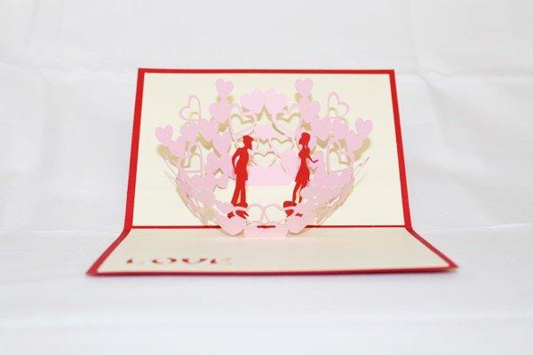 3D Pop Up Handmade Love Couple Kissing Card US Seller Love Pop Card