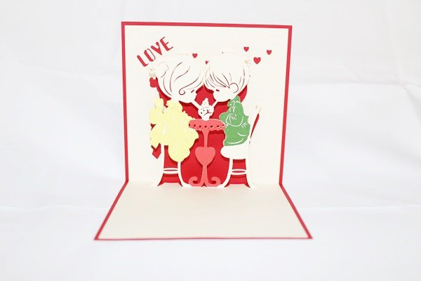 3D Pop Up Handmade Love Couple 1 Greeting Card US Seller Love Pop Card