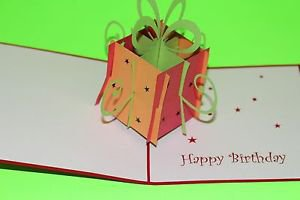 3D Pop Up Handmade Gift Box Red Greeting Card US Seller Love Pop Card