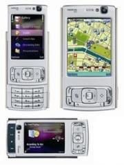 Nokia N95 Mobile Cellular Phone Silver/Plum (Unlocked)